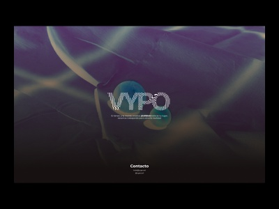 """""""Coming soon"""" page for VYPO comingsoon blur webgl photography interaction motion website web ux ui typography design"""