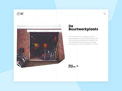 Bureau Urban Living architecture website ux ui menu homepage web redesign