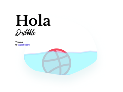 Hola dribbble hello dribbble first shot iceberg ice debut invites
