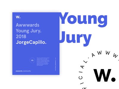 Awwwards Young Jury honored designer 2018 design website web young jury awwwards