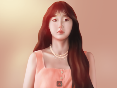 Chuu drawing fanart portrait digital illustration photoshop painting digital painting digital illustration art