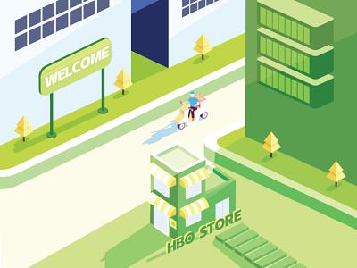 deliveryman store illustration design