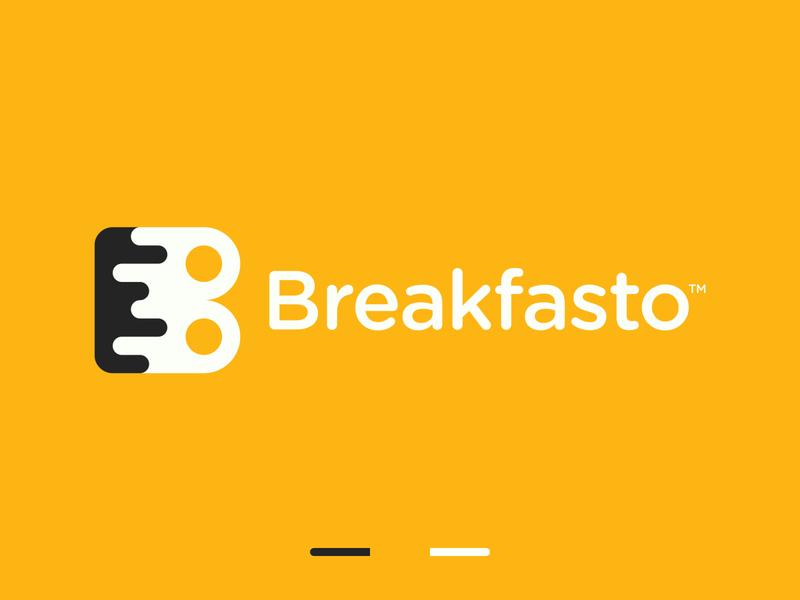 Breakfast B Letter Logo delivery app b letter b symbol b logo food logo brand branding minimalistic logo gennady savinov logo design symmetric modern minimalistic logo design geometric clean abstract