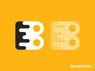 Breakfast B Letter Logo Grid
