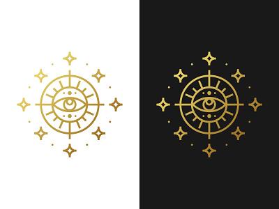 Mystic Astrology Monogram sacred geometry stars tattoo for sale unused buy for sale all seeing eye eye astrology sun mystical monogram pictogram symmetric modern gennady savinov logo design minimalistic logo design geometric clean abstract