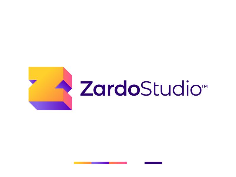 Gradient Z Letter Logo professional bright colors 3d logo z symbol z logo z letter gradient brand app logo game logo branding minimalistic logo symmetric modern gennady savinov logo design minimalistic logo design geometric clean abstract