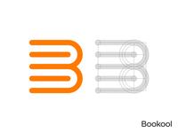 Books B Letter Logo Grid
