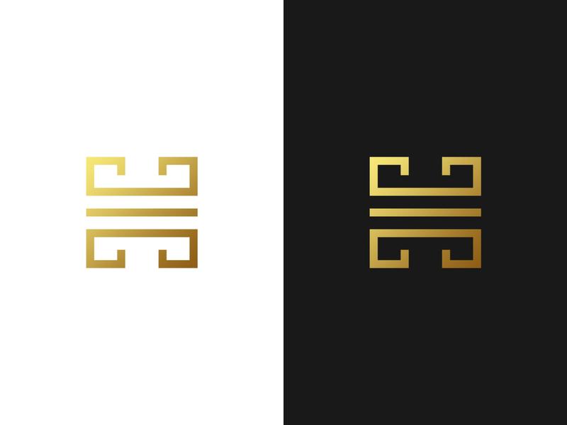 Ancient H Letter Logo - For Sale brand greek logo majestic luxury financial app law logo h symbol h logo h letter logo monogram minimalistic logo symmetric modern gennady savinov logo design minimalistic logo design geometric clean abstract