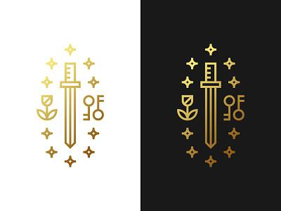 Knightly Monogram Logo - For Sale rose stars sword logo knight logo monogram pictogram gennady savinov logo design minimalistic logo branding symmetric modern minimalistic logo design geometric clean abstract