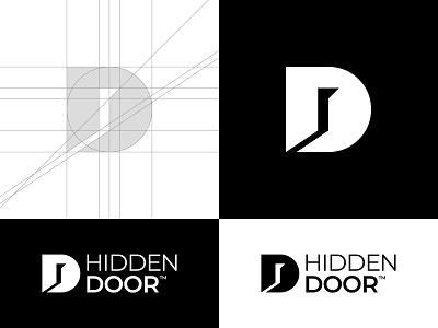 Hidden Door D Letter Logo logo grid black logo professional logo buy logo logomark logotype logo brand d letter d logo creative logo minimalistic logo gennady savinov logo design symmetric modern minimalistic logo design geometric clean abstract