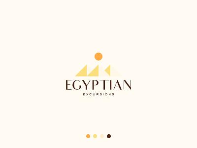 Egyptian Logo logo designer buy logo elegant logo sun logo pyramids egyptian egypt brand branding gennady savinov logo design minimalistic logo symmetric modern minimalistic logo design geometric clean abstract