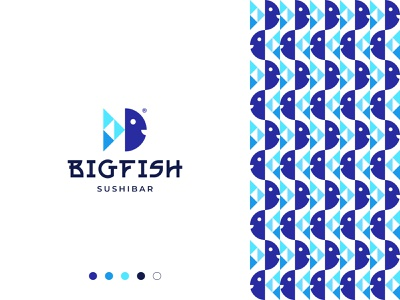 Fish Logo creative logo for sale buy logo animal logo sushi logo fish logo brand branding gennady savinov logo design minimalistic logo symmetric modern minimalistic logo design geometric clean abstract
