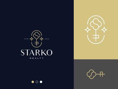 Realty Logo line art monogram logo stars key logo realty branding gennady savinov logo design minimalistic logo symmetric modern minimalistic logo design geometric clean abstract