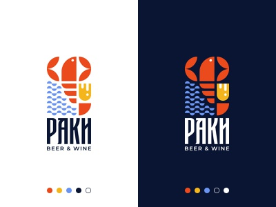 Crawfish Restaurant Logo quality professional logo designer logo buy logo restaurant logo fish crawfish branding gennady savinov logo design minimalistic logo symmetric modern minimalistic logo design geometric clean abstract