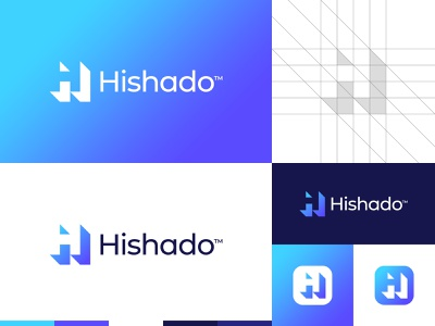 Shadow H Letter Logo logo grid negative space logo creative logo logo for sale buy logo professional gradient logo app logo h letter h logo branding gennady savinov logo design minimalistic logo symmetric modern minimalistic logo design geometric clean abstract
