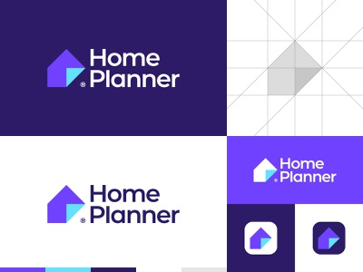 Modern House Logo colorful logo logo for sale buy logo quality logo brand identity professional logo logo grid app logo crative house logo branding gennady savinov logo design minimalistic logo symmetric modern minimalistic logo design geometric clean abstract