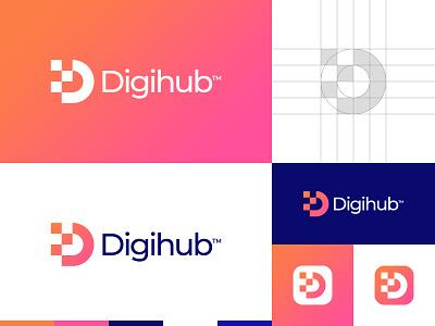 Digital D Letter Logo logo designs buy logo gradient logo digital logo d letter d logo branding gennady savinov logo design minimalistic logo symmetric modern minimalistic logo design geometric clean abstract