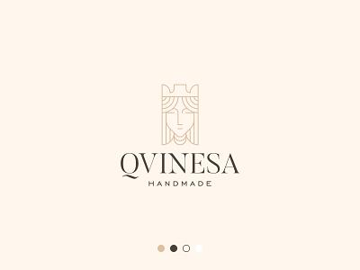 Queen Logo graphic design creative logo professional logo buy logo queen monogram branding gennady savinov logo design minimalistic logo symmetric modern minimalistic logo design geometric clean abstract