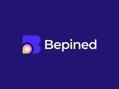 Bepined Logo abstract b logo design brand identity branding modern pin logo gradient logodesign gennady savinov logo design catalog creative b letter b logo design
