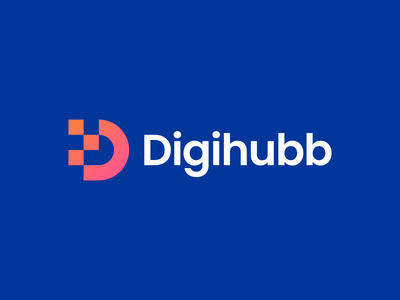 Digihubb Logo hub gradient geometric business marketing logo design buy logo creative brand indentity branding brand d logomark d letter d logo gennady savinov logo design digital modern abstract