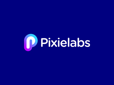 Pixielabs Logo software development brand identity brand branding buy logo gradient coloful fresh creative business professional p logomark p letter p logo gennady savinov logo design logo design geometric modern abstract