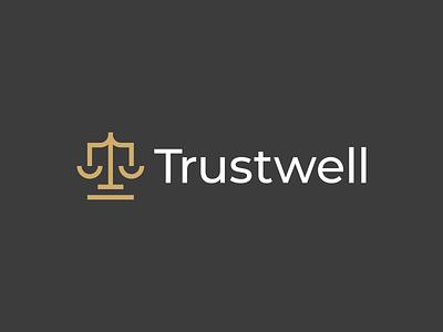 Trustwell Logo professional buy logo libra consultant freedom advocacy justice legal gennady savinov logo design law firm law brand identity branding brand t logomark monogram letter mark t logo monogram modern abstract