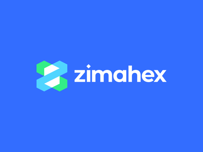 Zimahex Logo logo logo design creative communication cube hexagon studio branding geometric digital agency gennady savinov logo design blue modern z letter z logo z