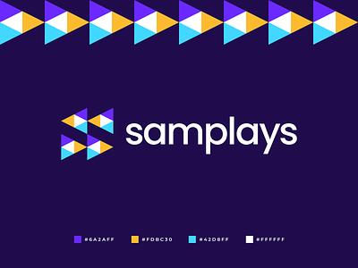 Samplays Logo media bright samples s logomark isometric polygon triangles colorful logo branding symmetric logo design modern abstract geometric gennady savinov logo design music play s letter s logo