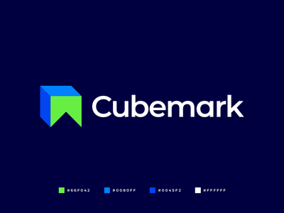 Cubemark Logo quality professional brand identity app logo modern logo graphic design logo branding symmetric modern abstract geometric logo design gennady savinov logo design books mark education peak cube