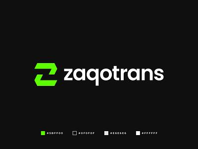 Zaqotrans Logo graphic design communication professional logo quality logo brand identity branding modern logo modern abstract geometric logo design gennady savinov logo design transportation logistics z symbol z logomark z letter z logo