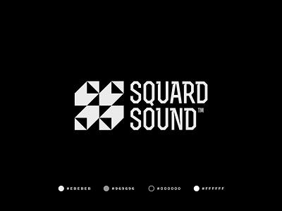 Squard Sound Logo quality graphic design design branding symmetric sound label music brand black monochrome logo design gennady savinov logo design abstract modern geometric s symbol s logomark s s logo