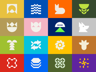 Modernism Series Collection 1 logo design modern leaf logofolio collection visual identity branding queen king fish palm sun mountain ufo fox gennady savinov logo design modernism a b c d e f g h i j k l m n t h e q u i c k b r o w n f o x o p q r s t u v w q y z