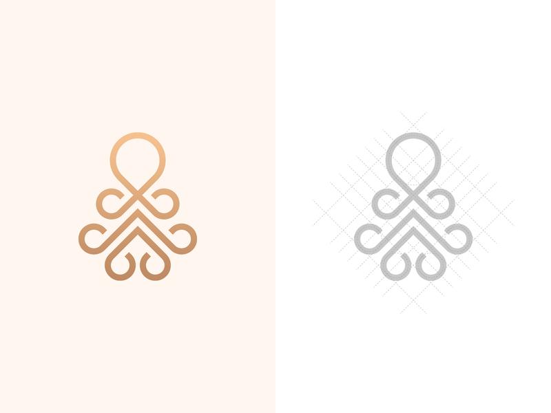 Octopus Logo logomark business octopus logo inspiration hellodribbble grid logo minimalistic logo monogram pictogram logo symmetric modern minimalistic logo grid logo design grid geometric clean abstract