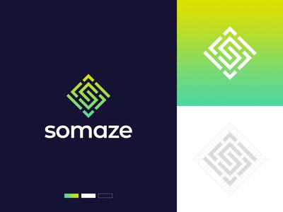 Maze S Letter Logo