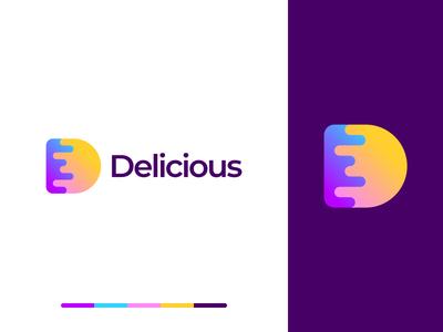 Delicious D Letter Logo