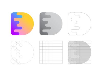 Delicious D Letter Logo Grid
