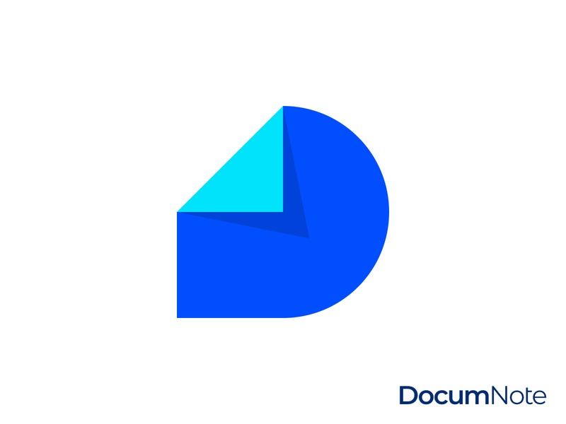 Document Note D Letter Logo
