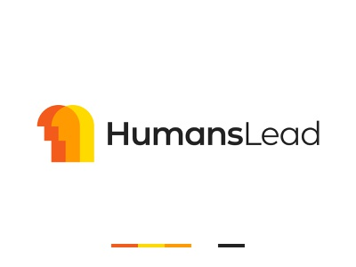 Humans Lead Logo public logo people logo orange human logo branding brand gennady savinov logo design pictogram minimalistic logo symmetric modern minimalistic logo design geometric clean abstract