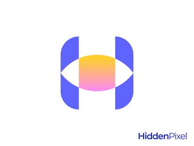 Eye H Letter Logo
