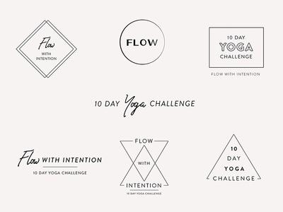 Yoga Challenge Wordmarks