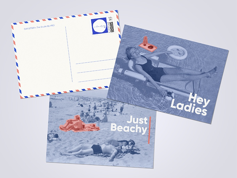 The Studio Provincetown Postcards hbo vacation beach photography vintage halftone coral blue mail postcard