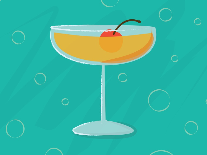 Coupe Cocktail martini download 50s hanna barbera glass bubbly vintage retro midcentury modern midcentury illustration drink bar cocktail aviation sidecar