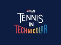 FILA Tennis in Technicolor Workmark