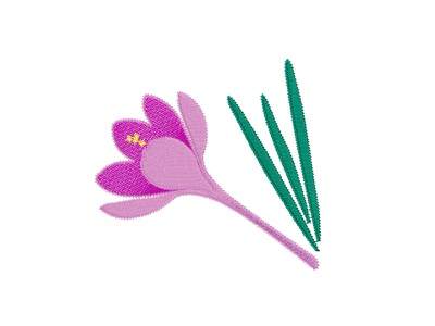 Purple Crocus Flower flowers flower embroidered patch embroidered embroidery digitizer embroidery digitizing embroidery