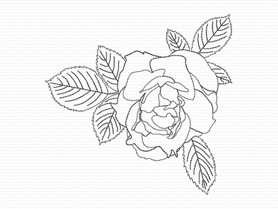 Rose Bud embroidery digitizer embroidery digitizing embroidery design embroidery roses rosebud