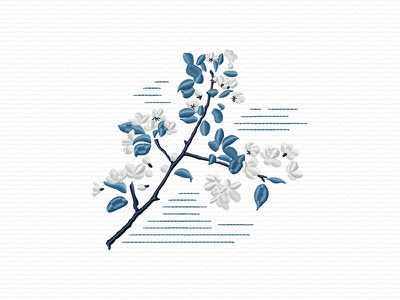 Apple Tree Branch branch flowers flower apple embroidery digitizing embroidery digitizer embroidery design embroidery