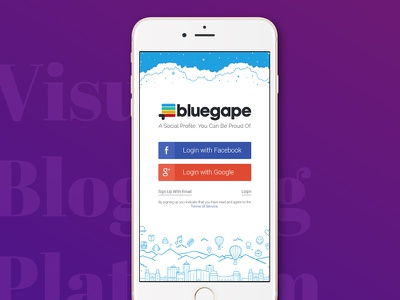 Social Login/Sign Up gplus login fb login bluegape visual blogging social login login