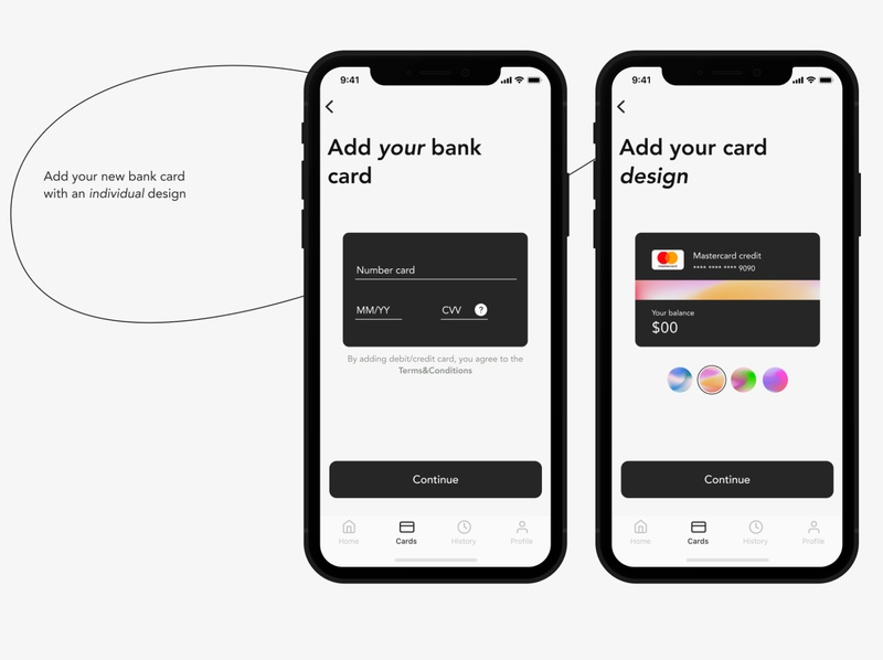 Banking app/Add your bank card