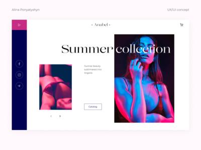 Lingerie shop/ concept concept lingerie website web typography ux ui design