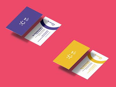 Business card MF Psicología Clínica smille grapic design design creative happy flat icon design icon colorfull therapist clinic psychology psychologist agency branding card bussines card business